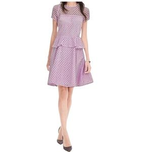 Banana Republic lilac eyelet peplum dress 8 EUC